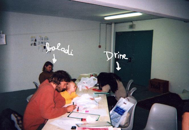 Alex Baladi and Drine in la fabrique de fanzines, a really cool workshop.